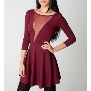 Gloria V-neck Skater Dress American apparel